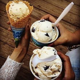 ice cream cone cup ben & jerry