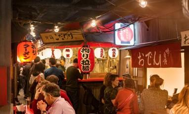 Inside the Kodawari ramen restaurant