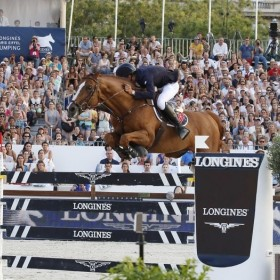 Horse jumping at the Longines Price
