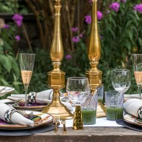 table in a garden
