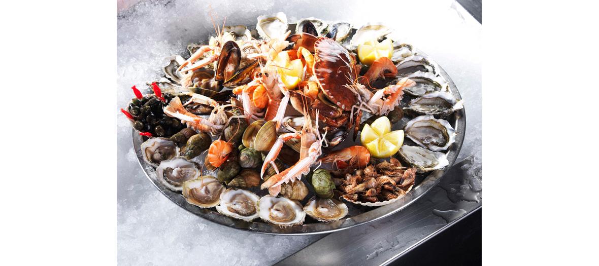 Livraison plateau de fruits de mer