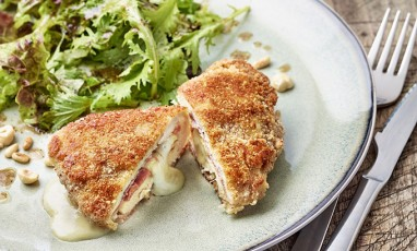 A homemade cordon bleu