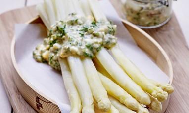 Aspargus Gribiche Sauce