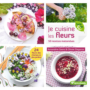 The cover of the book je cuisine les fleurs