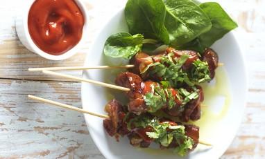 Brochette Porc Ketchup Coriandre