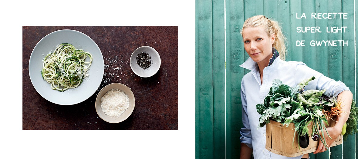 Courgette cacio e pepe : la recette light de Gwyneth Paltrow