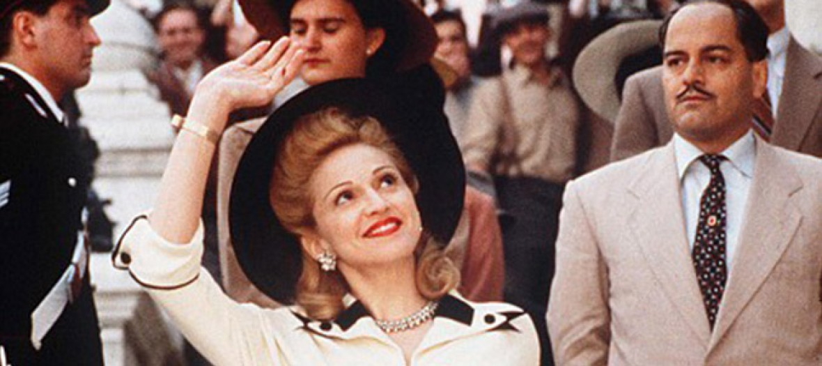 Madonna in Evita's character