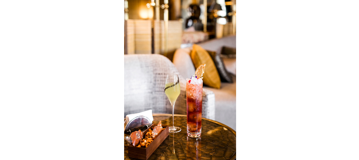 The cocktails of the chef Christophe Davoine of the hotel Crillon