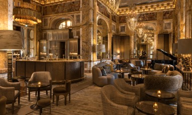 Bar and interior decoration of the Hotel Crillon by Chahan Minassian