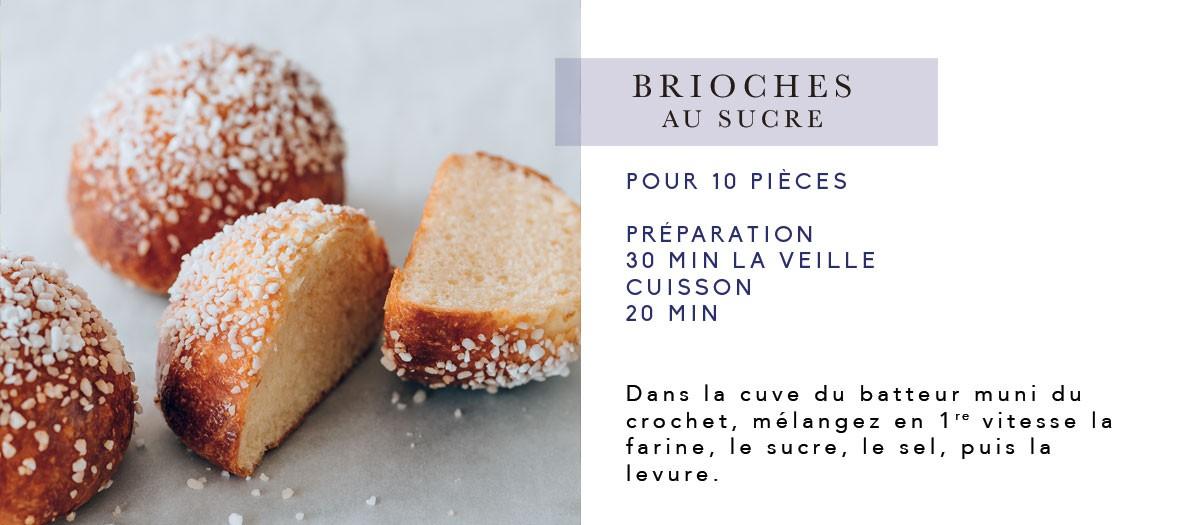 La recette des savoureuses brioches au sucre de Cyril Lignac