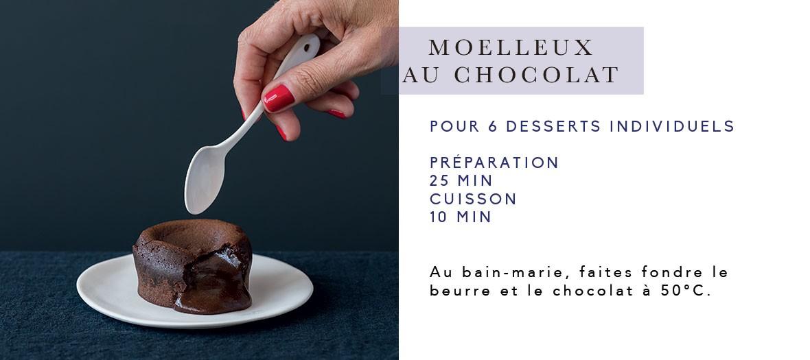 Recette du moelleux au chocolat sans gluten de Cyril Lignac