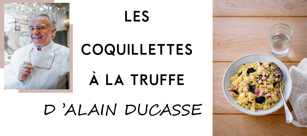 la recette des coquillettes aux truffes d alain ducasse. Black Bedroom Furniture Sets. Home Design Ideas