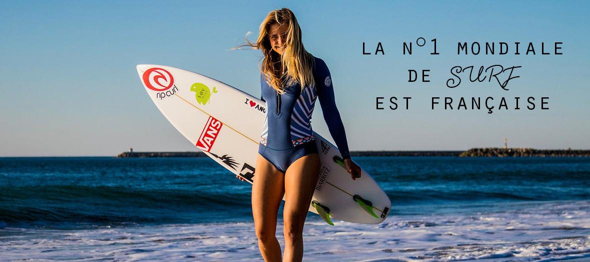 Pauline Ado Championne Surfeuse
