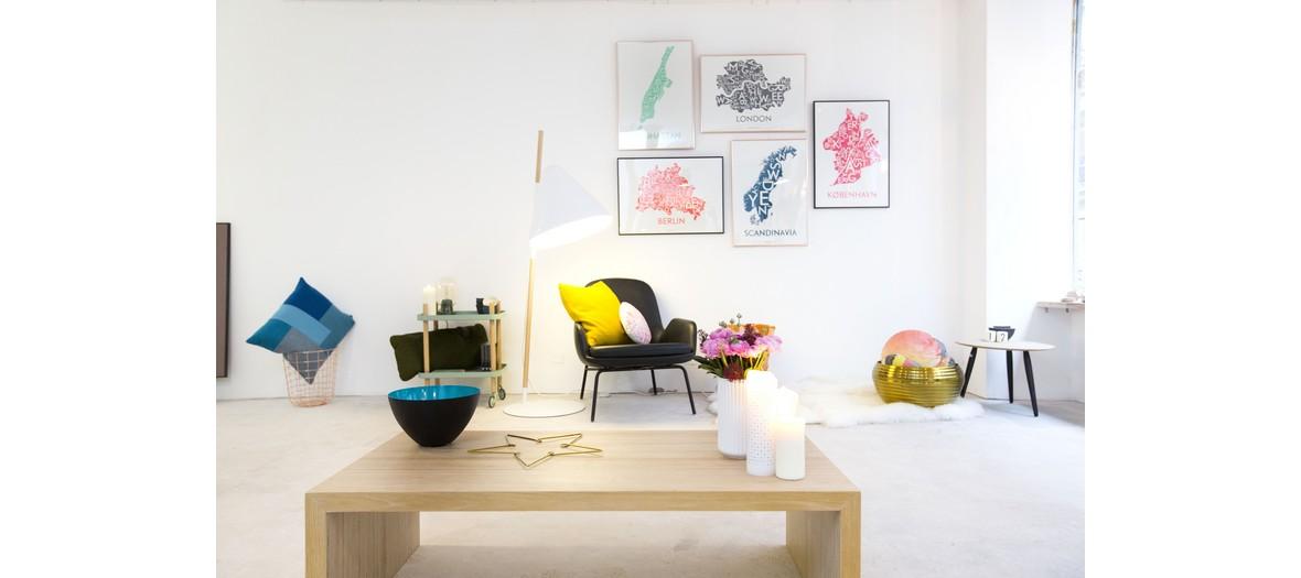 Boutique, mobilier, luminaire et accessoires danois