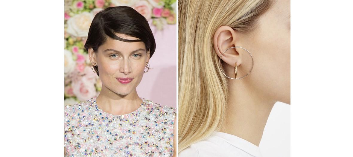 Laetitia Casta et Karly Kloss portant des boucles d'oreilles Charlotte Chesnais