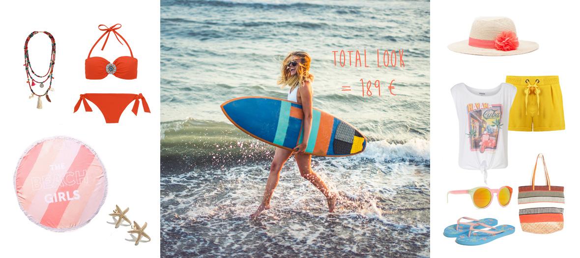 look plage surfeuse