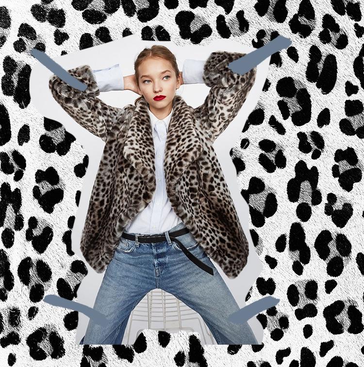 Fausse fourrure motif leopard
