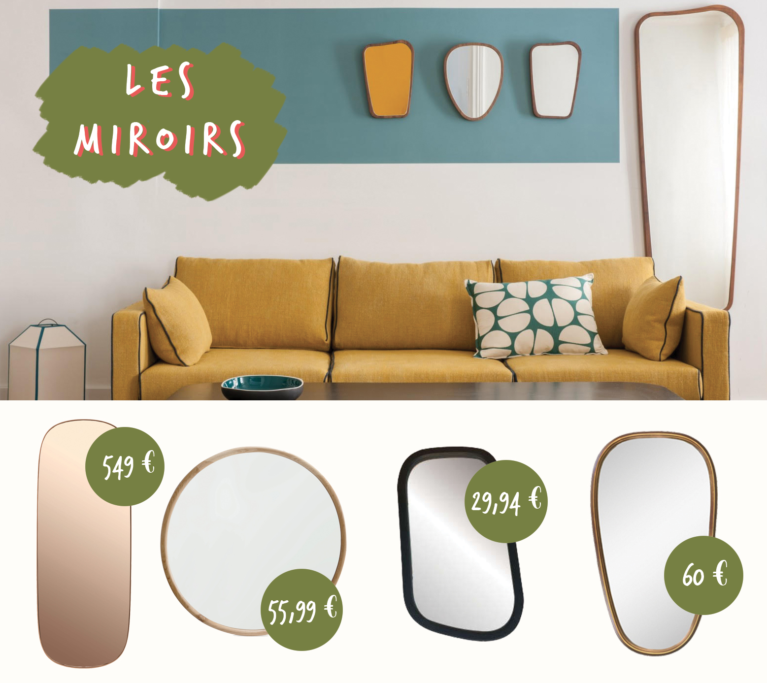 Inspirations d co sarah lavoine for Miroir jardiland