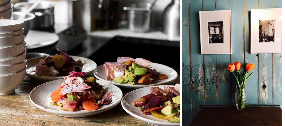 Salad dishes, buddha bowl, onigiri or soda broth of Stephane Saclier