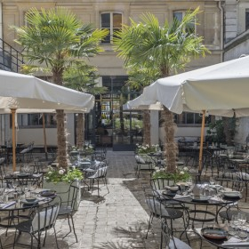 Terrasse du restaurant Le Camondo