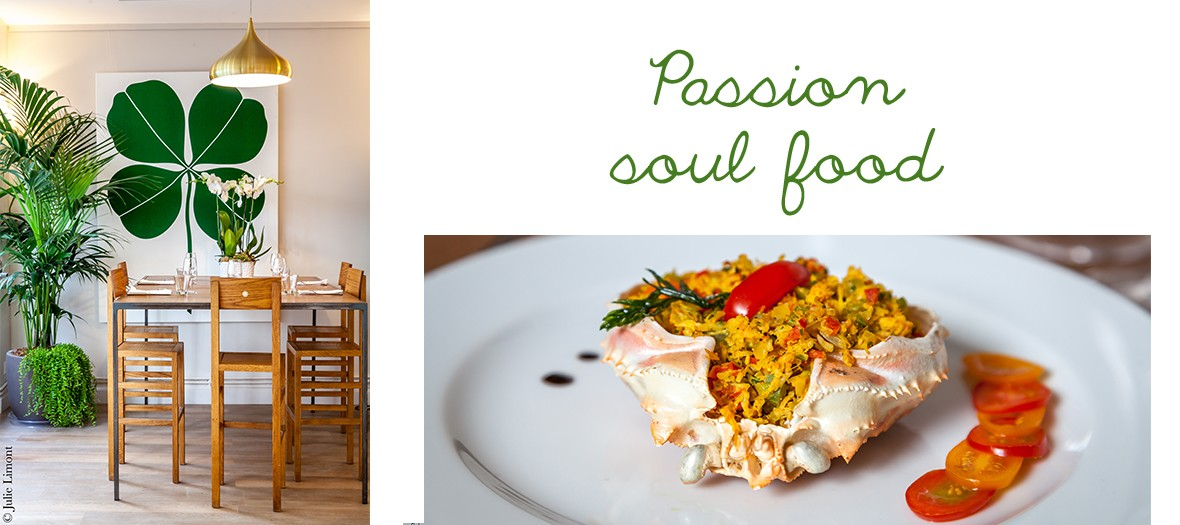 Restaurant soul food et vegan, cuisine afro-brésilienne