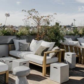 Terrace of the National Hotel Arts and Crafts, Rooftop in the Marais