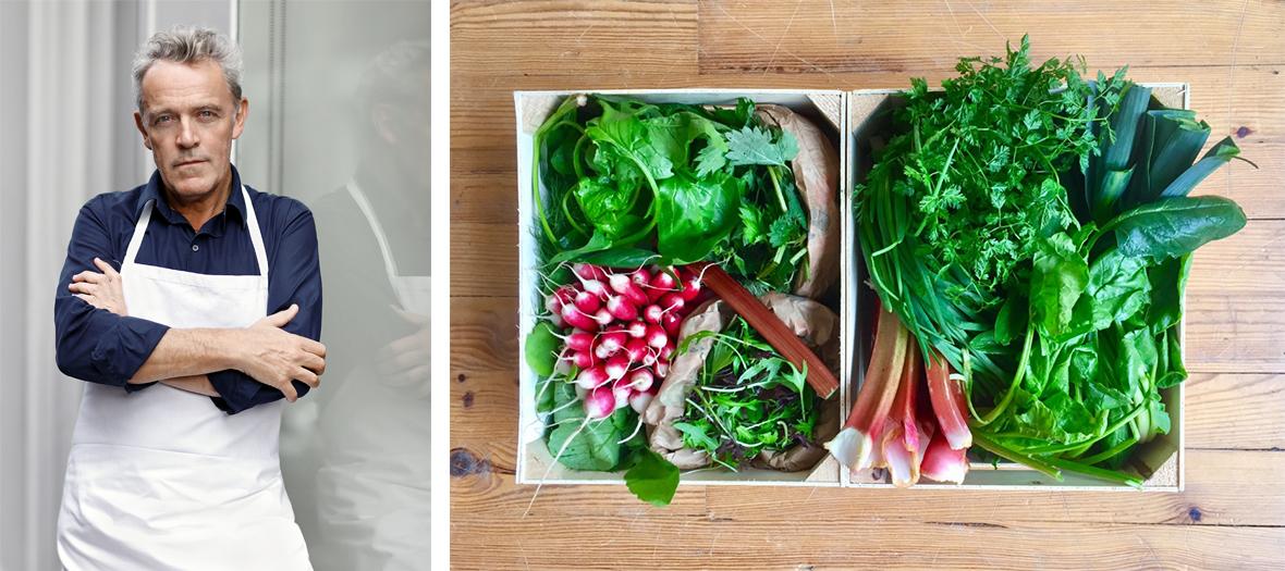 Panier de légumes d'été