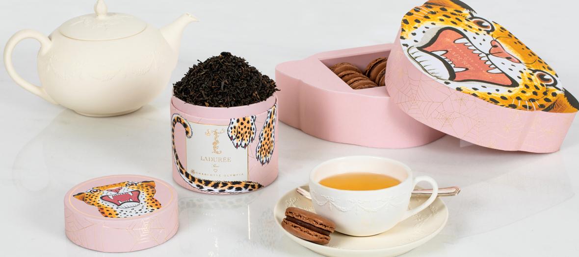 coffret macarons au chocolat et thé Earl Grey