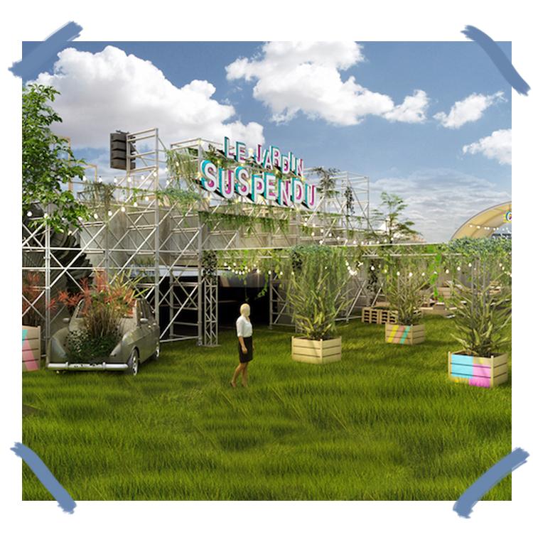 jardin suspendu en outdoor