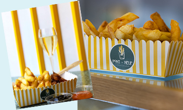 A fries and champagne happy hour at €10