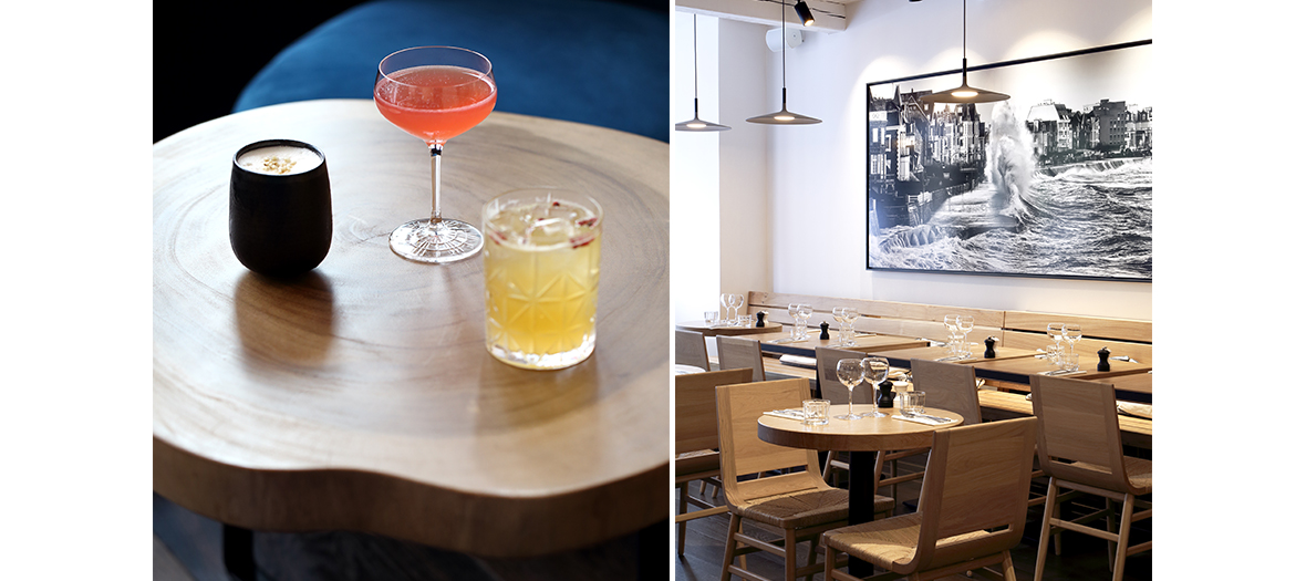 Mix of Corvello Cocktails and the Cider Bar Decor in Paris