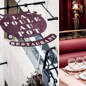 Table decoration at Jean-Francois Piege's La Poule au Pot restaurant