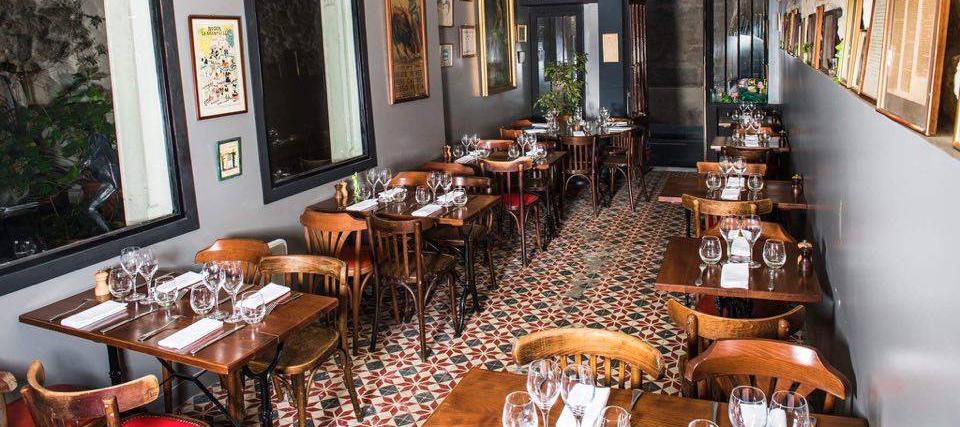 Ambiance interieure du restaurant Roger la Grenouille de François Pagot et Laurent de Gourcuff