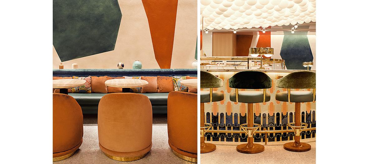 salle de restaurant et decoration Laura Gonzales du brunch Pierre Herme