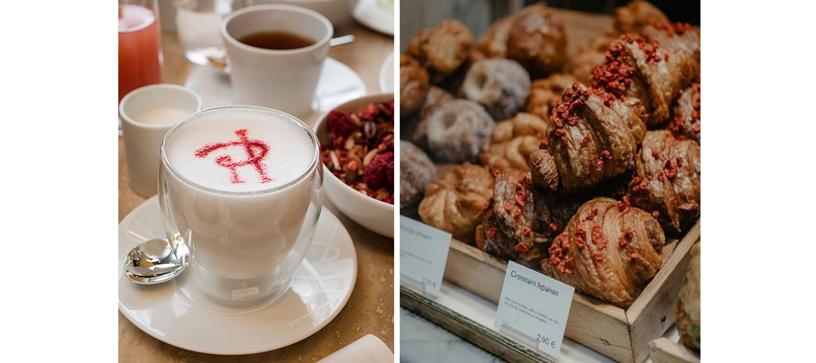 cafe latte et macarons pierre herme