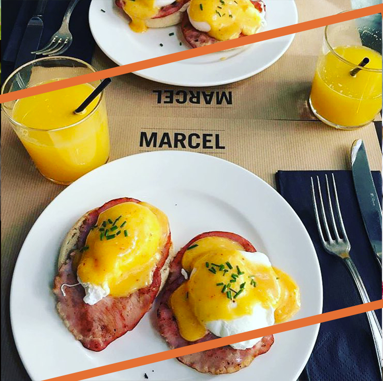 bacon Benedict egg