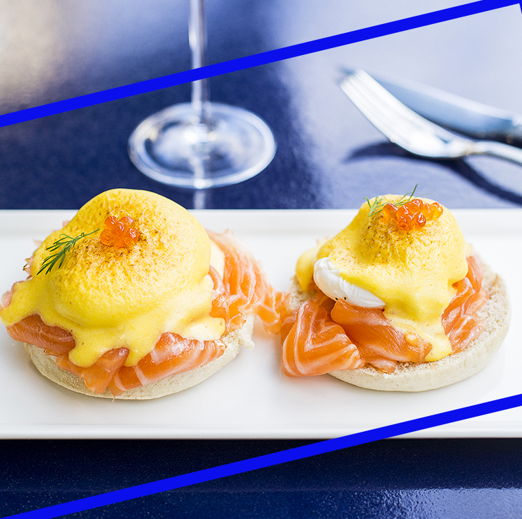 Benedict egg with smoked salmon