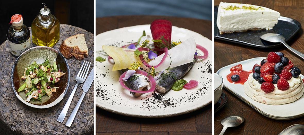 Plats healthy, salade, plats poisson et desserts