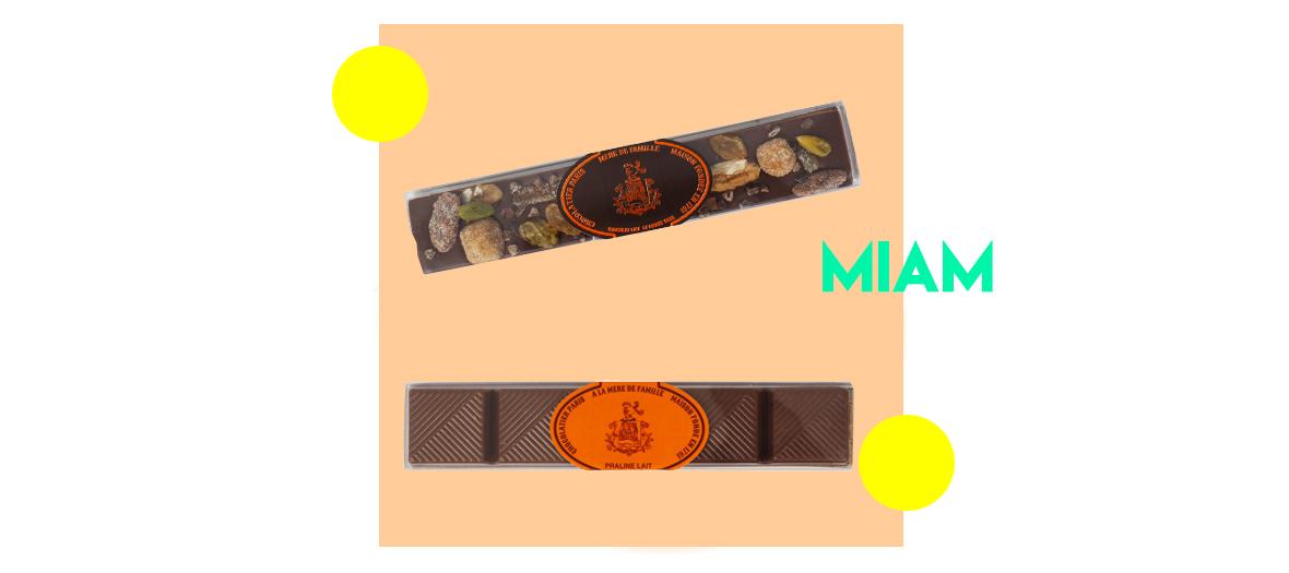 chocolat ivoire praline a l'amande et a la nougatine