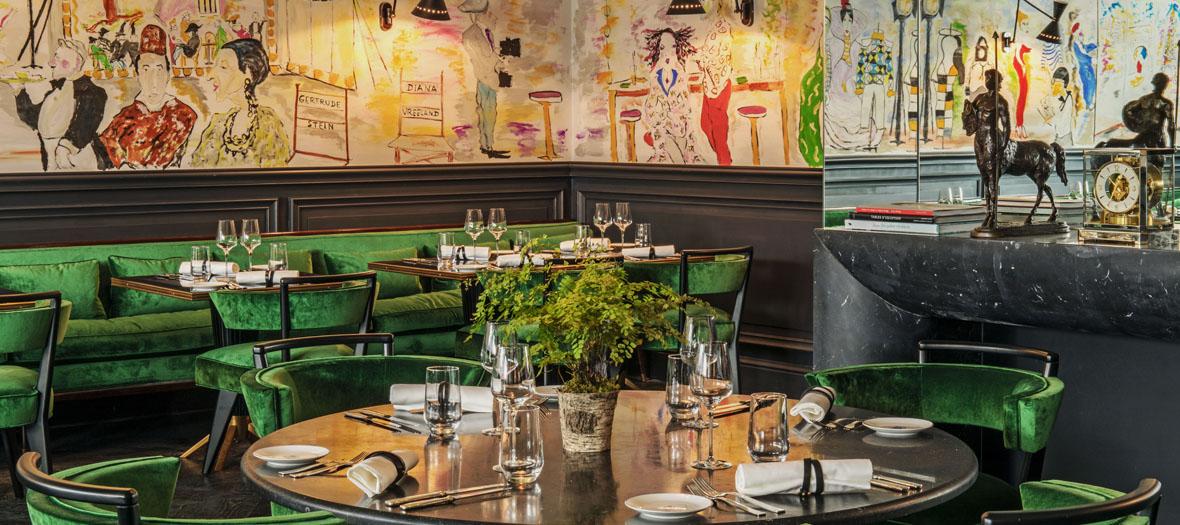 Salle intérieure du restaurant italien Schiap