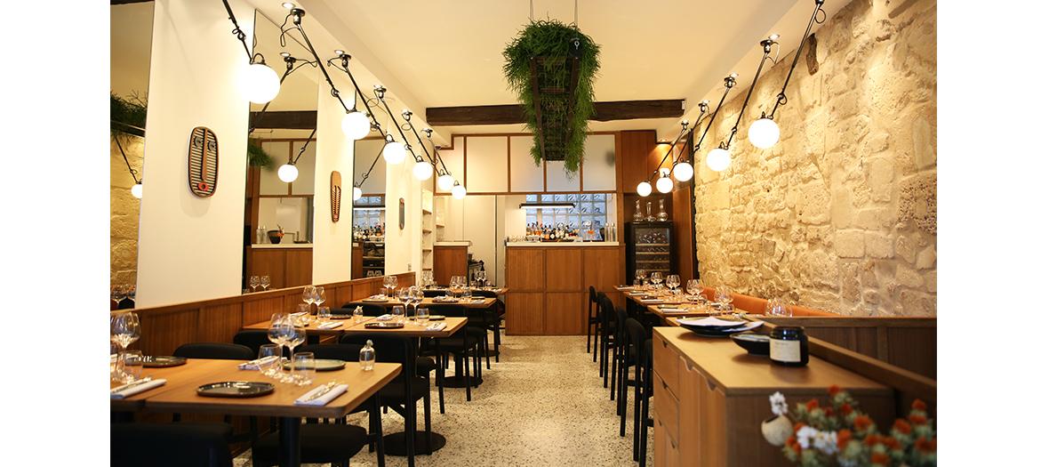 Decoration et interieur du nouveau restaurant mediterraneen Hebe