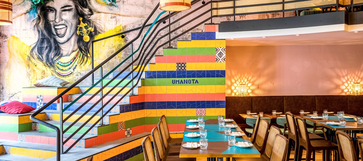Salle de restaurant et deco interieure chez Uma Nota