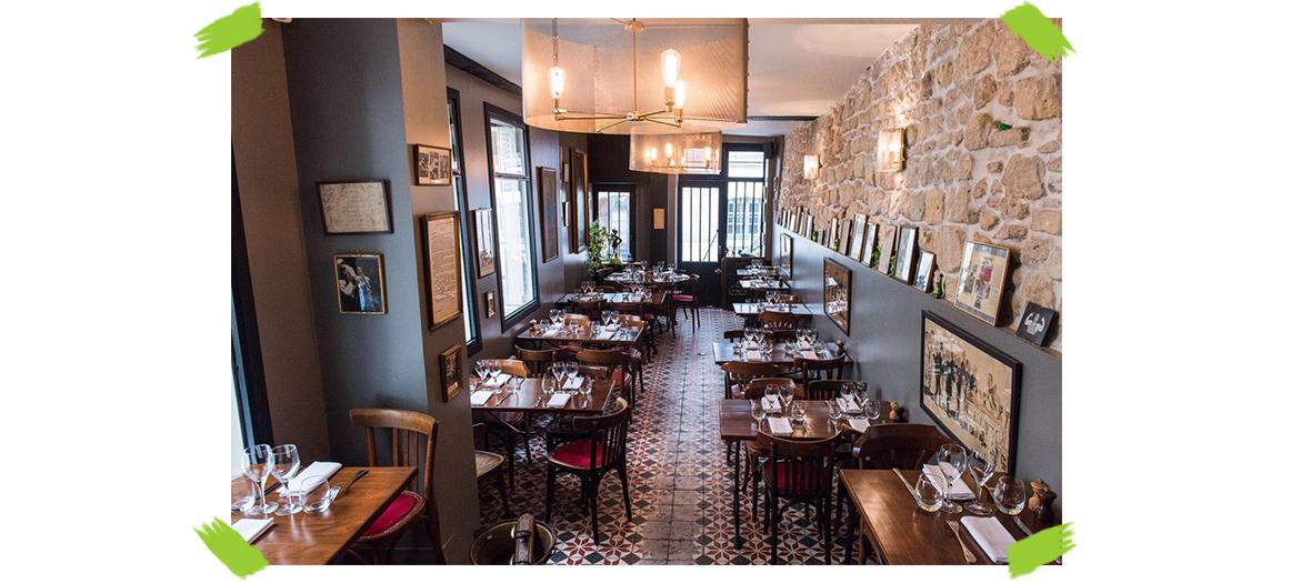 Salle du restaurant Roger la Grenouille Saint-Germain-des-Pres à Paris