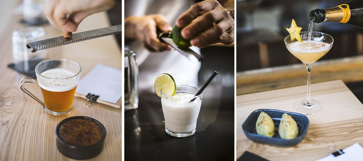 cocktails le Bobo,tartare de poisson au lait de coco et féroce d'avocat à Paris