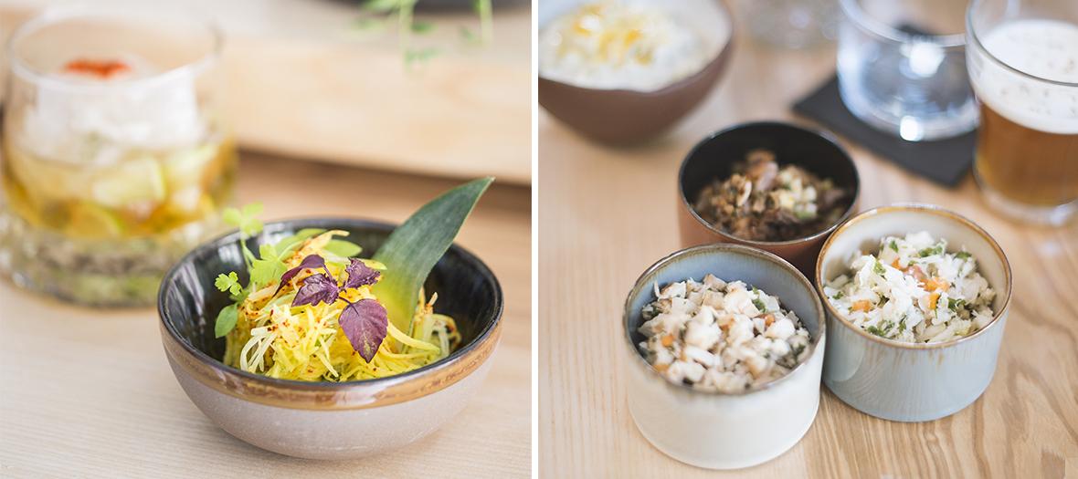 salade d'avocat crevettes,boudins de cochon créole à Paris