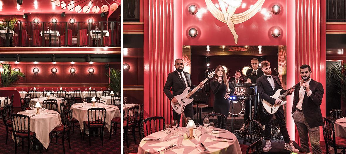 Décoration Interieur du restaurant et orchestre de Laurent de Gourcuff et Olivier Salem au restaurant Roxie