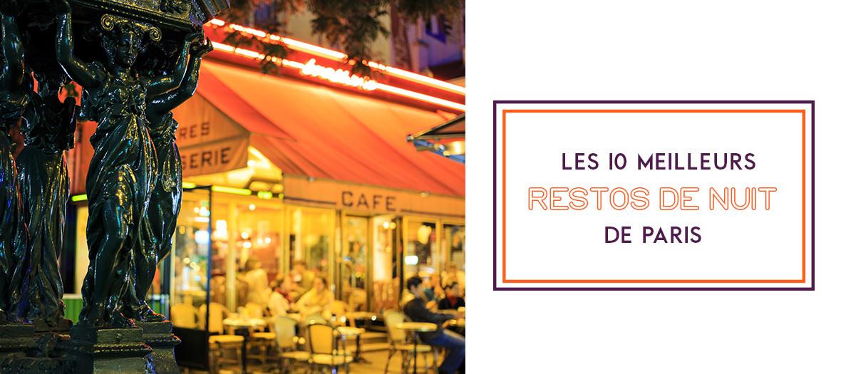 Palmares restaurants open at night in Paris