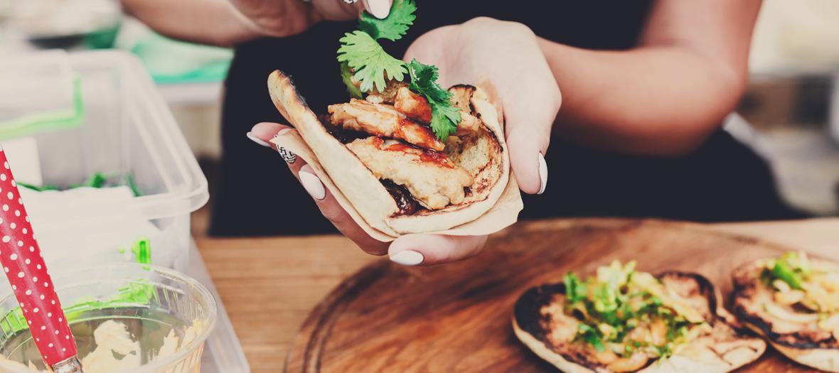 preparation d'un sandwich pita