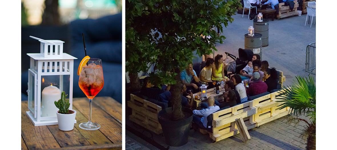 Les palettes canapés à ciel ouvert et cocktails maison du pansoul restaurant