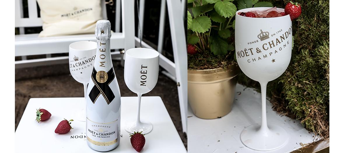 Jardin à champagne éphémère